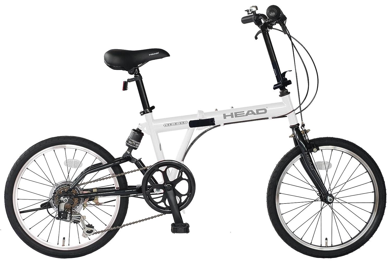 HEAD(ヘッド) フォールディングバイク Diesis(ディエシス)[20インチ 外装6段変速 リアサスペンション 折りたたみ自転車] FDR-HE206R B079YLHYL1グロスホワイト
