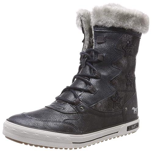 Mustang Schnür-Booty, Zapatillas Altas para Niñas, Azul (Navy 820), EU: Amazon.es: Zapatos y complementos