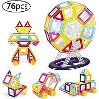 Kurtzy Mini Magnet Building Blocks 3D Construction Puzzle Creative Toy Set for Kids 76 Pcs