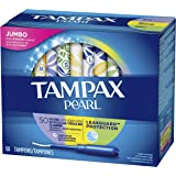 Tampax Pocket Pearl Triple Pack Unscented Tampons, 50ct