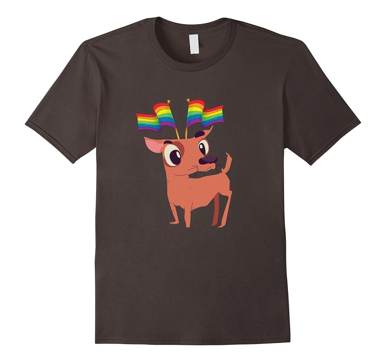 Gay Pride Flag Shirt Pug Shirt Chihuahua Shirt Dog Lover