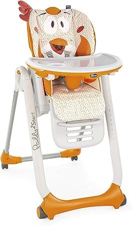 Oferta amazon: Chicco Polly 2 Start Trona y hamaca transformable y compacta, con 4 ruedas y freno, de 0 a 3 años, diseño gallina naranja (Fancy Chicken)