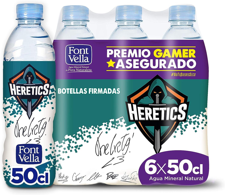 Font Vella agua mineral natural esports - pack de 6 x 50cl: Amazon ...