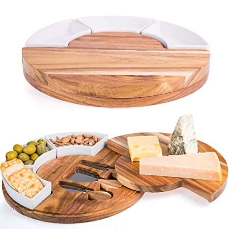Shanik Cheese Cutting Board Set Charcuterie Board Set And Cheese Serving Platter Perfect Meatcheese Board And Knife Set For Entertaining And