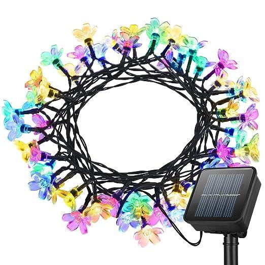 60 opinioni per Litom Catena Luminosa Ghirlanda Luci della Stringa Solare 50 LED Impermeabile