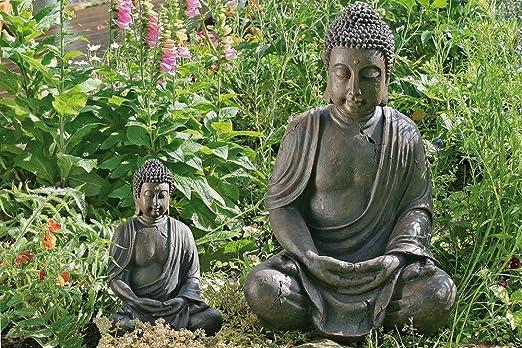 Boltze - Escultura de buda para jardín (70 cm): Amazon.es: Jardín