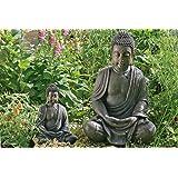 escultura decoracin de jardn estatua buda meditando cm