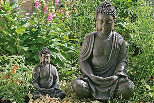Amazon.de: BUDDHA SKULPTUR BUDDHAFIGUR 70 CM FENG SHUI GARTENDEKO