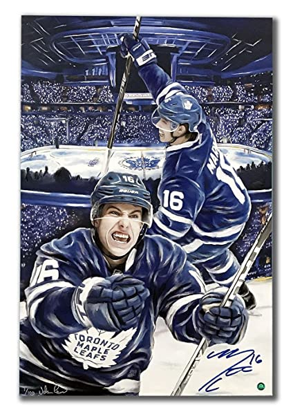 sports shoes c1959 3c6f8 Mitch Marner Toronto Maple Leafs Autographed 1st Goal 24x36 ...