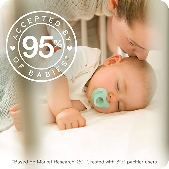 NUK Sensitive Orthodontic Pacifiers, Boy, 0-6 Months (2 Count)