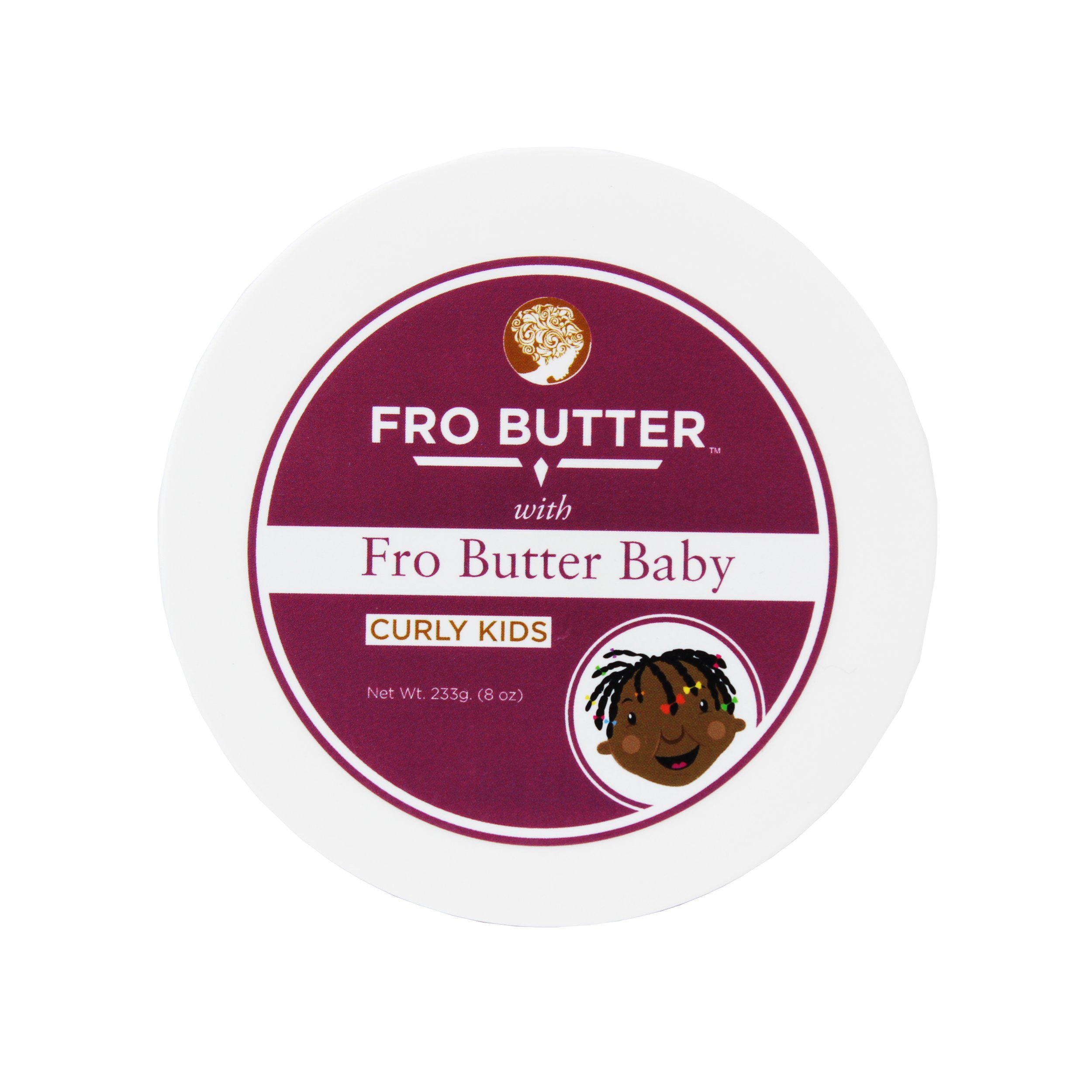 Fro Butter Baby Hair Detangler | All-Natural, Organic & Vegan Friendly | With Fro Butter & Nourishing Extracts | Stop Itching & Dandruff| Ideal For Curly Hair, Kids Of All Ages|Sulfate & Paraben-Free