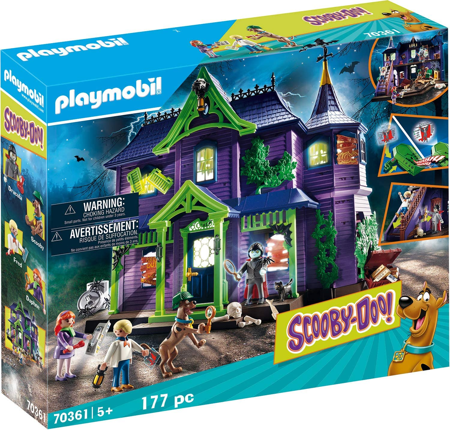 Playmobil - SCOOBY DOO! Aventura en la casa embrujada, Juguete, Color Multicolor, 70361: Amazon.es: Juguetes y juegos