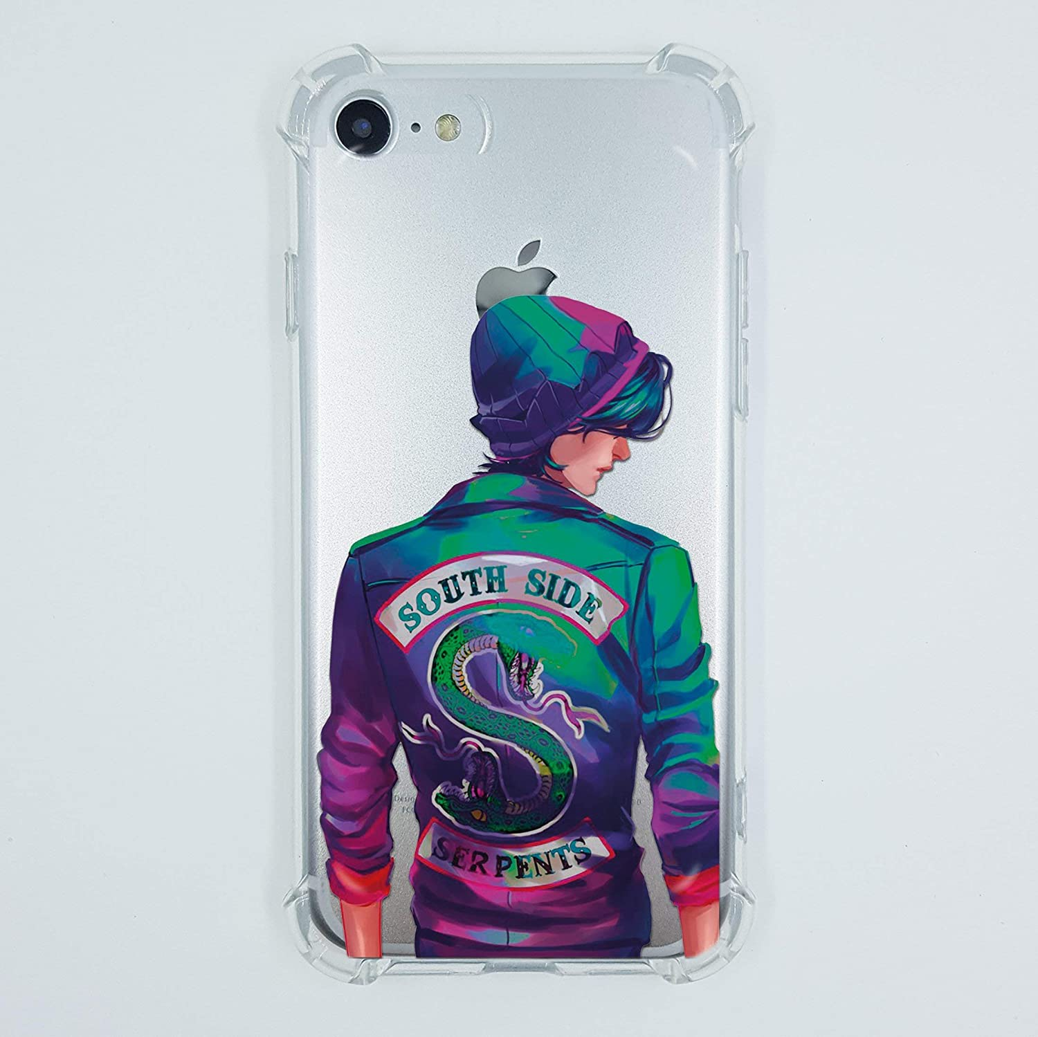 Riverdale iPhone 7 8 6 6s plus X Xs Max Xr 5 case Jughead Jones Southside Serpents Jacket Shirt sweatshirt patch gifts print Lifeproof Crystal Clear Shock Absorption Soft TPU Silicone Protective Cover