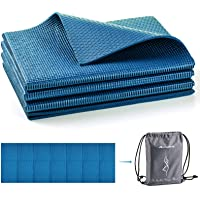 Avoalre Travel Yoga Mat for Women and Men 1/4 Non Slip Foldable Exercise Mat with Carry Bag Thick Fitness Mat for Home…