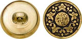 product image for C&C Metal Products 5339 Abstract Grape Vine Metal Button, Size 30 Ligne, Antique Gold, 36-Pack