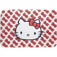 Tapete Poliéster Floffy Hello Kitty Little Laces Urban Branco/Vermelho