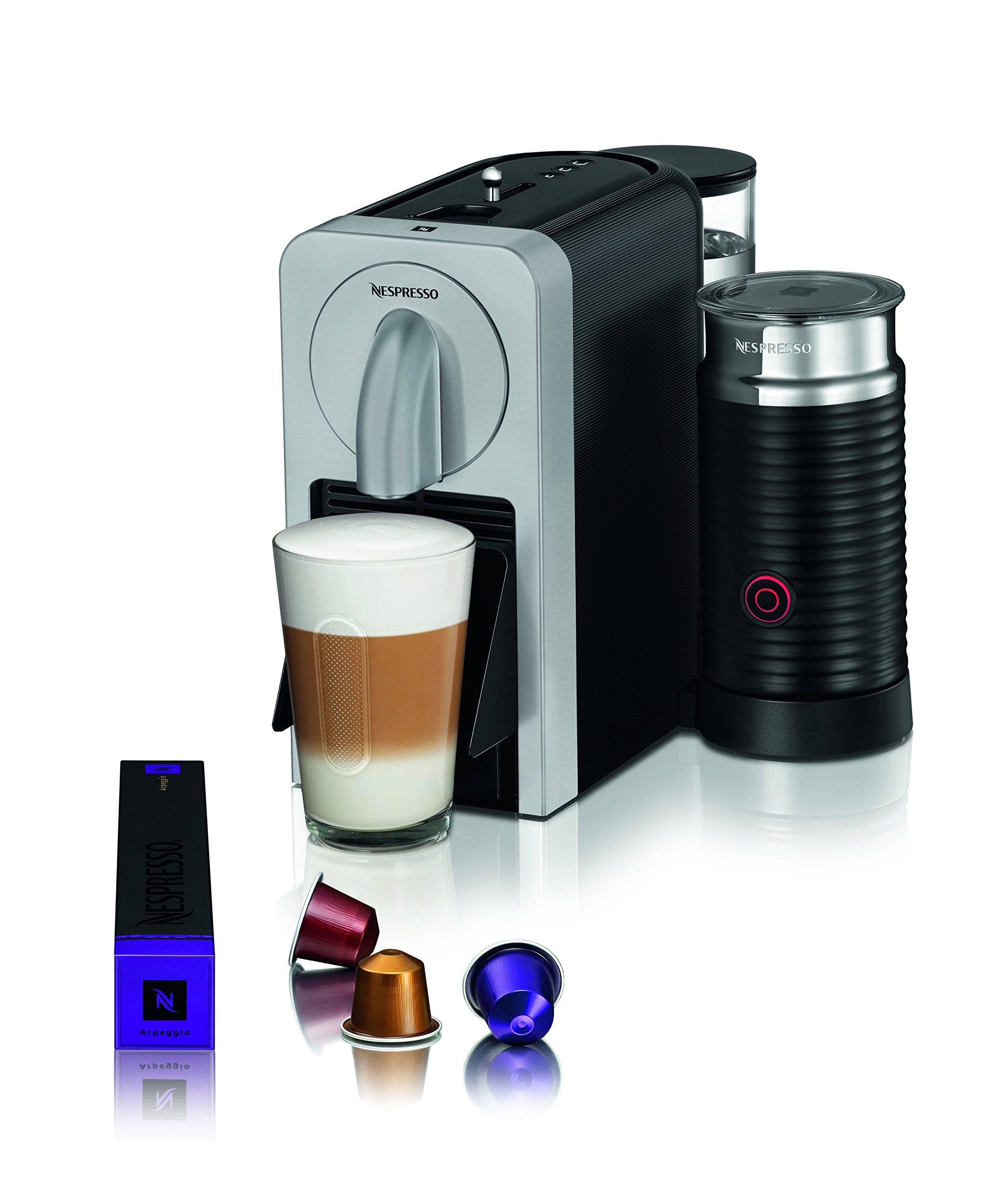 Nespresso D75-US-SI-NE Prodigio With Milk Espresso Maker, Silver by Nestle Nespresso