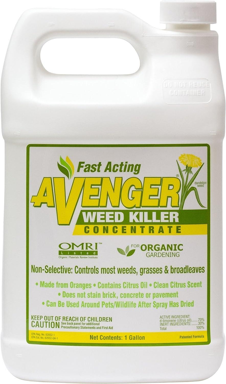 Nature's Avenger Organic Weed Killer Concentrate - Natural Herbicide Broadleaf Herbicide For Lawns Natural Weed Killer