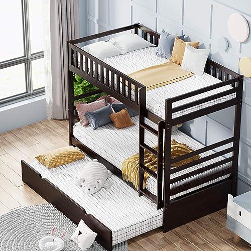 Harper Bright Designs Twin Over Twin Bunk Bed