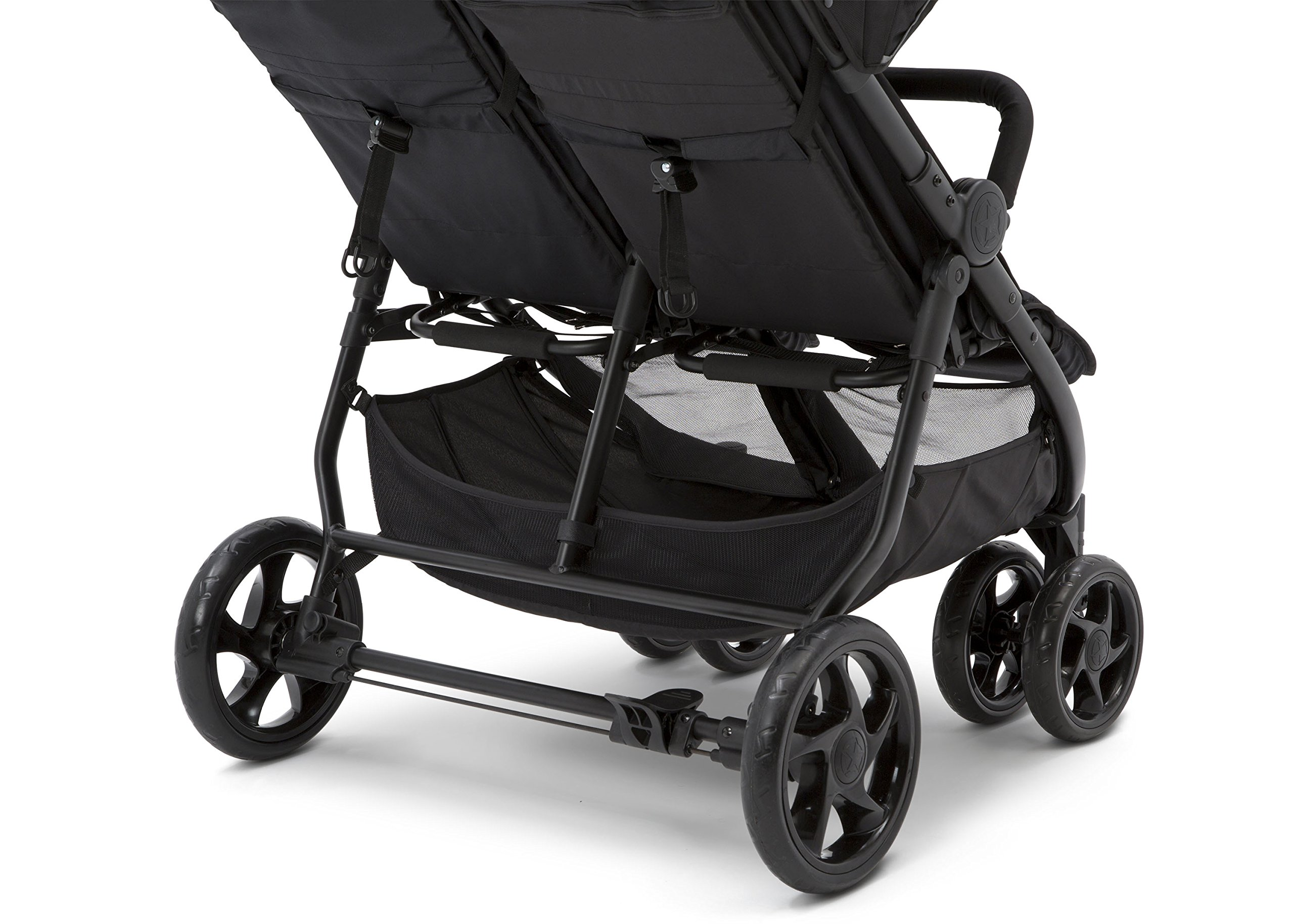 Jeep Destination Ultralight Side x Side Double Stroller, Midnight (Black) by Delta Children (Image #7)