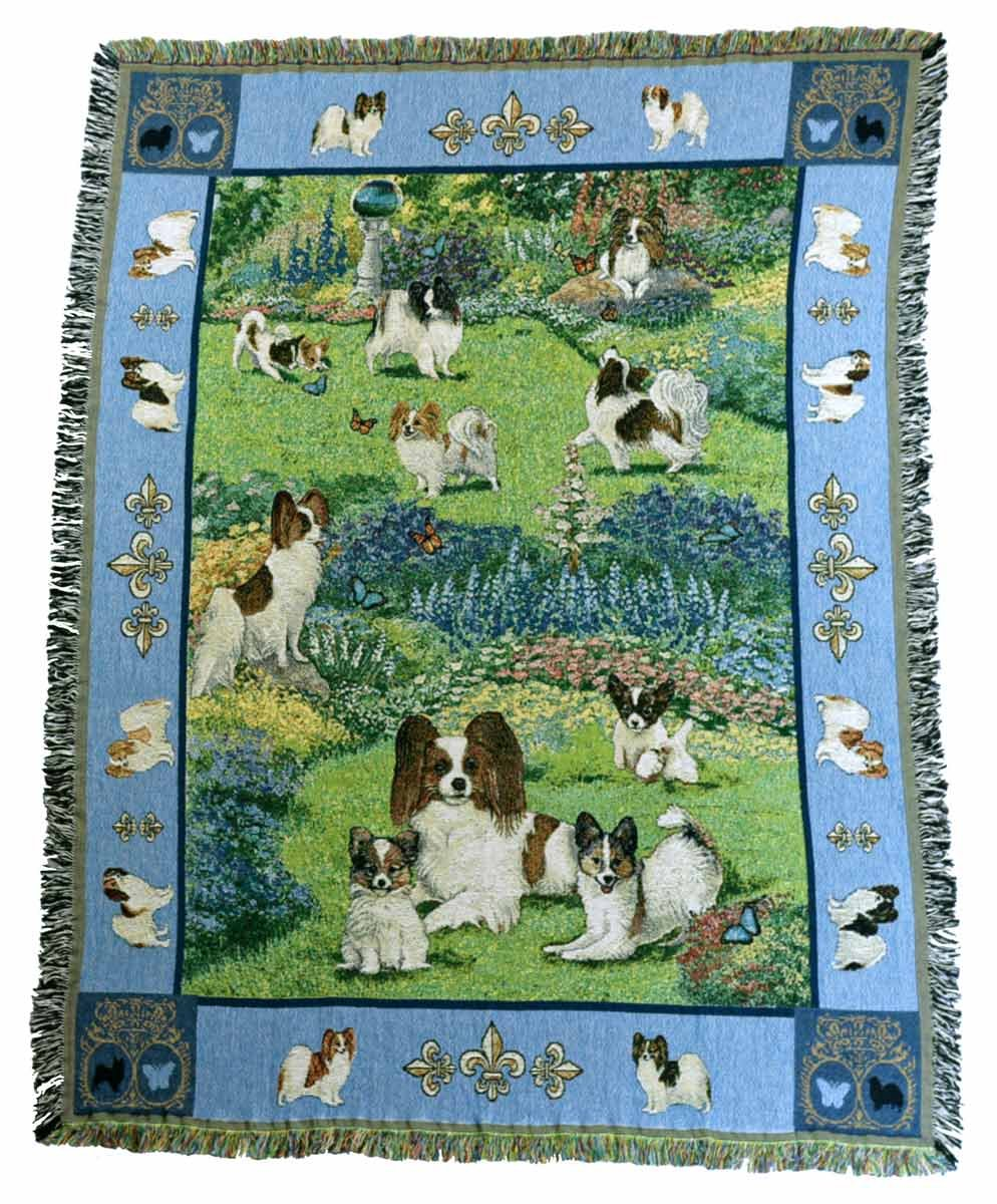 Gone Doggin Papillon Dog Blanket Throw # 3 – Exclusive犬アートinタペストリーfor Dog Lovers B00JAW3EA2