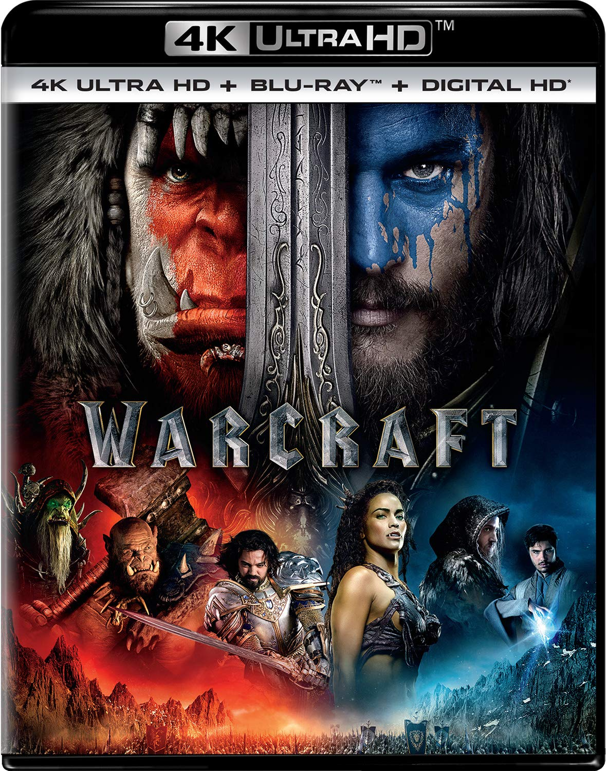Amazon Com Warcraft 4k Ultra Hd Blu Ray Digital Hd Travis