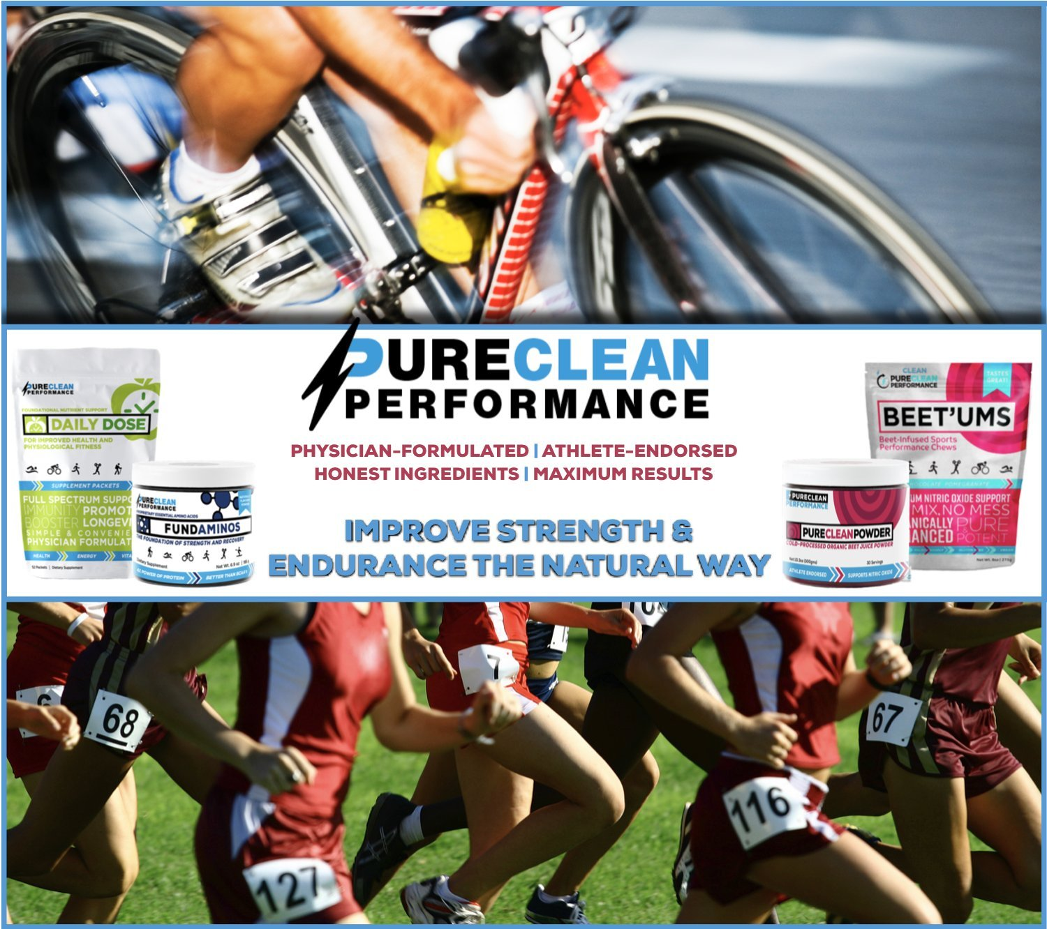 PureClean Performance FUNDAMINOS - Plant-Based Essential Amino Acid+BCAA Blend, Organic, Nothing Artificial, Athlete-Endorsed, Physician-Formulated for Peak Strength and Faster Recovery,60 Servings by PureClean Performance