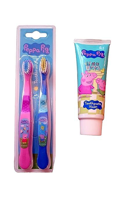 Para que los niños paquete de cepillos de dientes y sistema de limpieza pasta de dientes