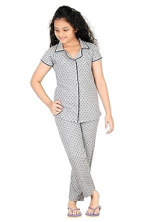 f7d1f1e086a Just4You Girl s Cotton Top and Track Pant Night Suit  Amazon.in ...