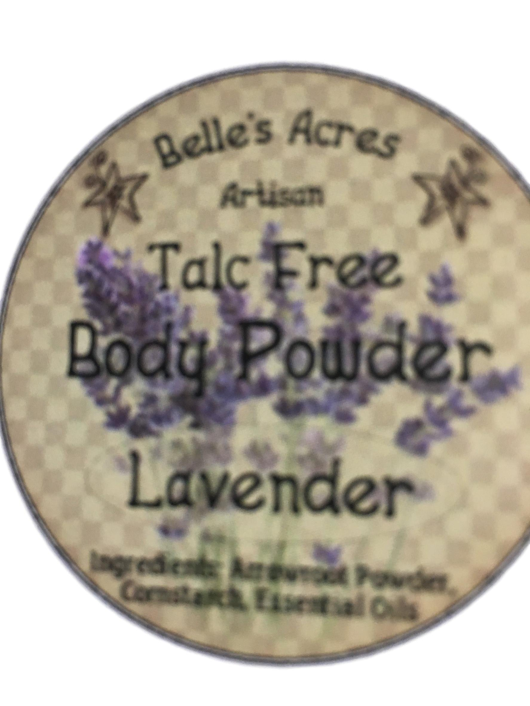 Hand-Made Talc-Free Body Powder (Lavender; 8oz)