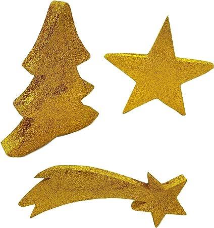 Stella Cadente Di Natale.Piccoli Monelli Albero Di Natale Stella E Stella Cadente Ornamento Adatto Come Appendini Allestimento Vetrine O