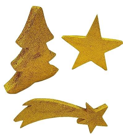 Stella Per Albero Di Natale Fai Da Te.Piccoli Monelli Albero Di Natale Stella E Stella Cadente Ornamento