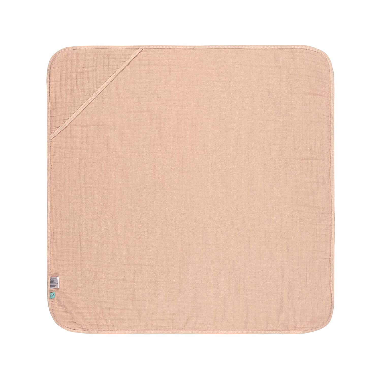 L/ÄSSIG Kinder Kapuzenhandtuch Muslin Baumwolle 90x90 cm//Hooded Towel grau