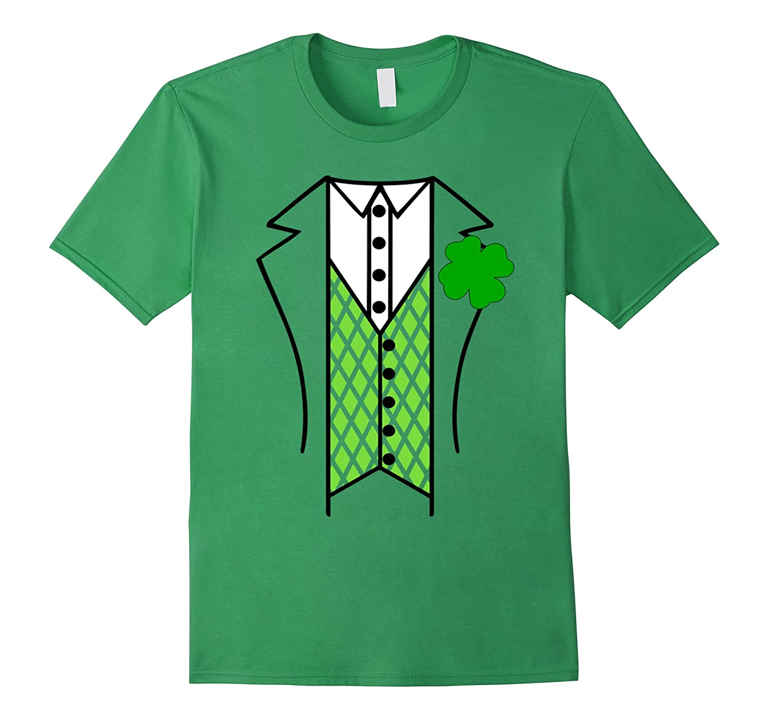 da0d11a9 Irish Tuxedo Shirt Funny St Patricks Day Ireland Leprechaun-TD – Teedep