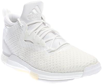 Adidas Men's D Lillard 2 Boost Primeknit Basketball Shoes (10.5, White/White /