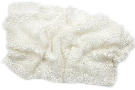 vendita calda aliexpress nuovo di zecca woolove Copertina neonato Bianca Mohair e lana. Lavorata a mano ...