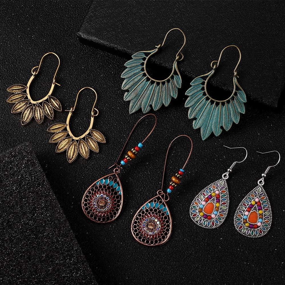 Boho earrings gift for girlfriend Gift idea elegant Jewelry wood earrings Gold Black earrings handmade jewelry brown earrings paint earrings