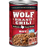 Wolf Brand Hot Chili Without Beans, Packed with Protein, 15 Ounce