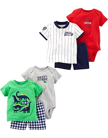 c033e66499 Carter's Baby Boys' 6-Piece Bodysuit Tee and Short Set
