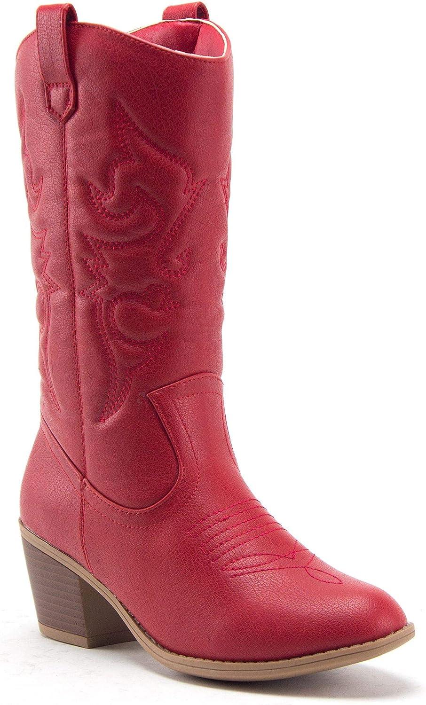 Jaime Aldo Womens TEX-25 Tall Stitched Western Cowboy Cowgirl Dress Boots