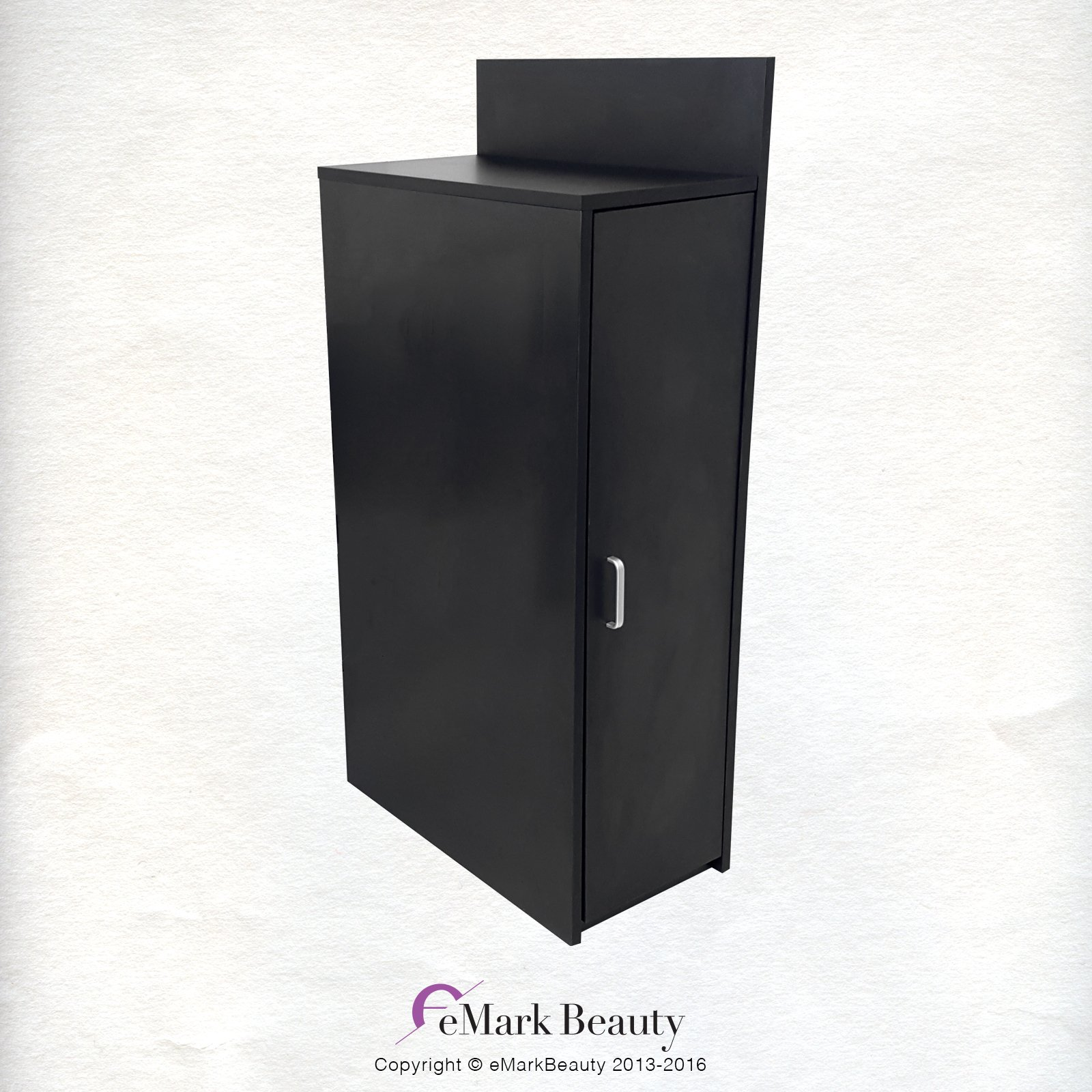 Beauty Salon Floor Cabinet WITH STORAGE in Black for Shampoo Bowls TLC-BC42 by eMark Beauty