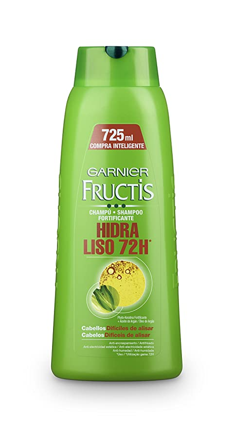 Garnier Fructis Hidra Liso 72H Champú - 725 ml