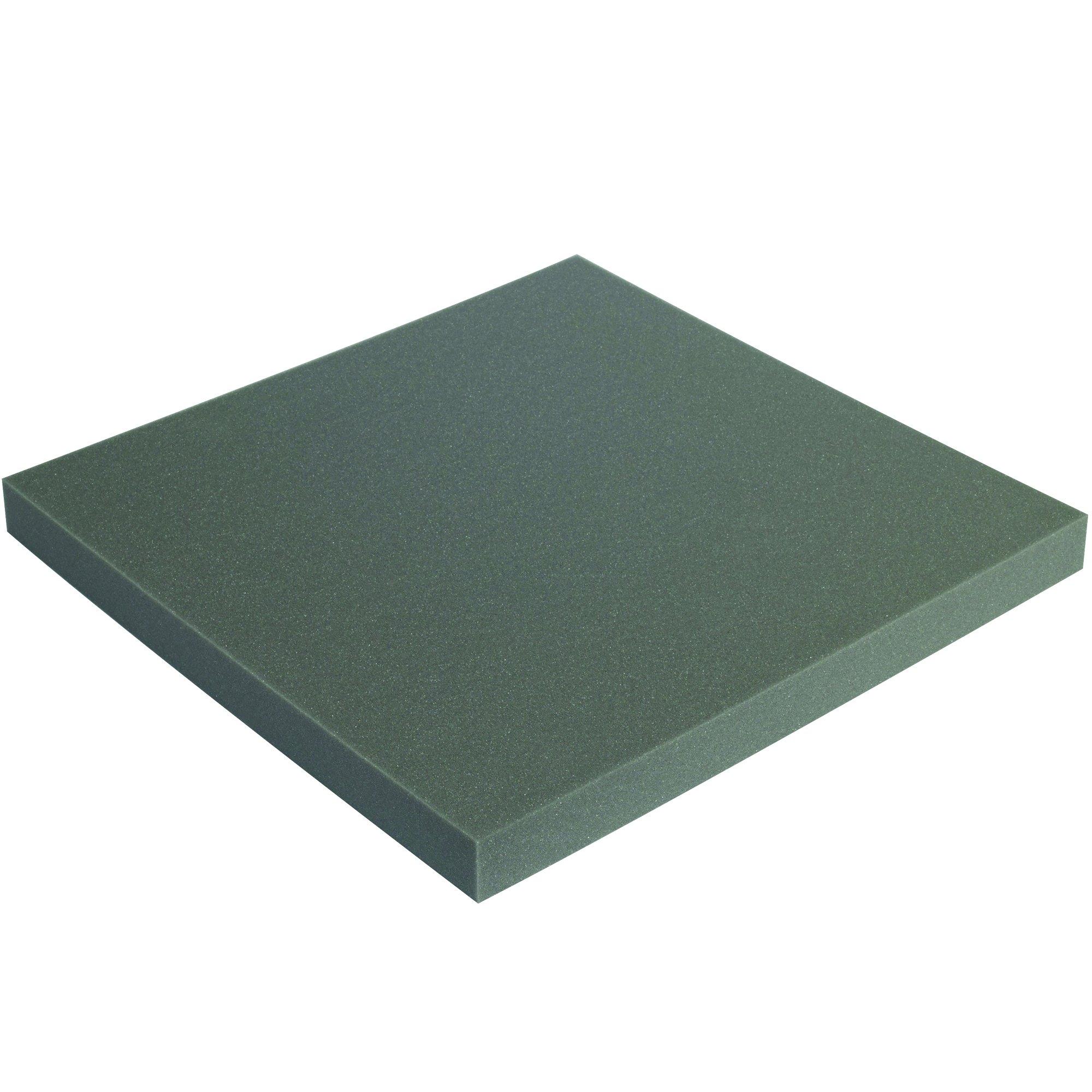 BOX USA FSC24242 Soft Foam Sheets, 2'' x 24'', Charcoal (Pack of 6) by BOX USA