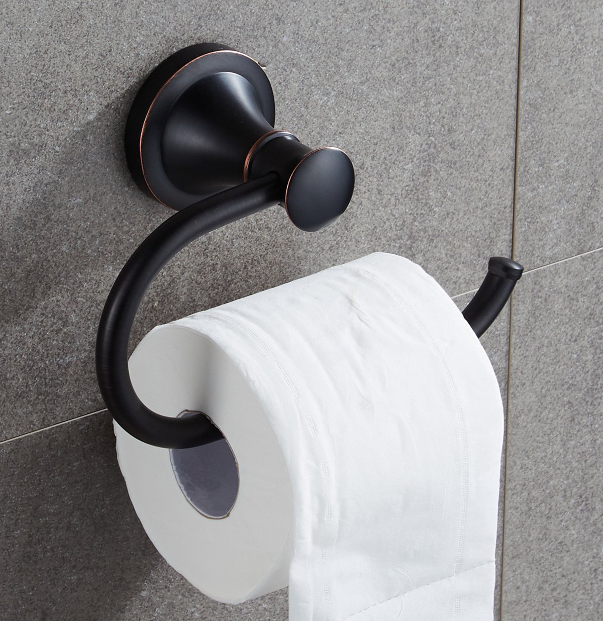 Ello&Allo Oil Rubbed Bronze Toilet Paper Holder,Bronze Toilet Tissue Holder Bathroom Accessories by Ello&Allo (Image #2)