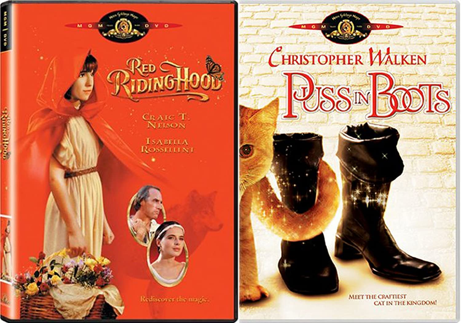Amazon Com Fairy Tale Collection Red Riding Hood Puss In Boots 2 Dvd Movie Bundle Craig T Nelson Isabella Rossellini Christopher Walken Adam Brooks Adrian Marner Movies Tv