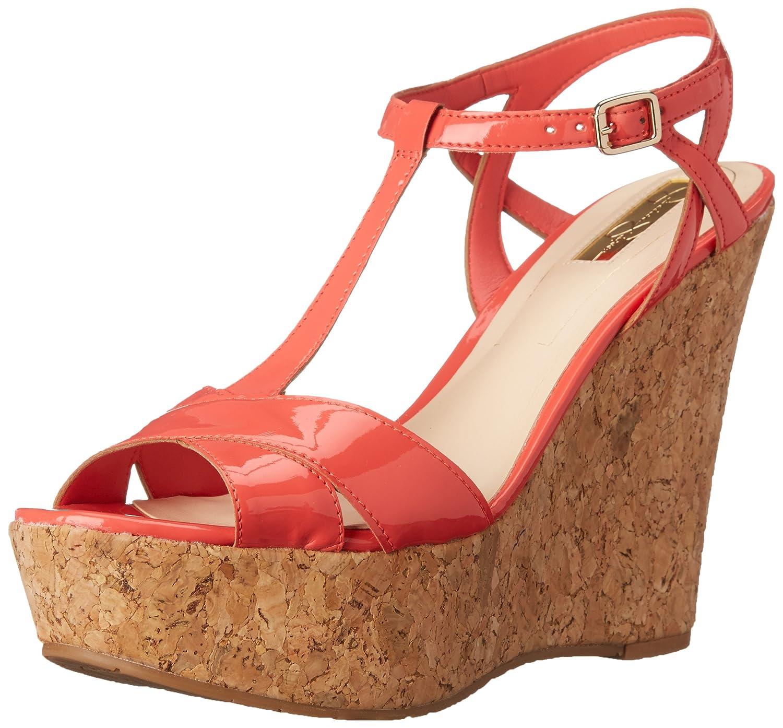 Jessica Simpson Women's Ellrose Wedge Sandal B00VGQMZZA 9 B(M) US|Sweet Grapefruit