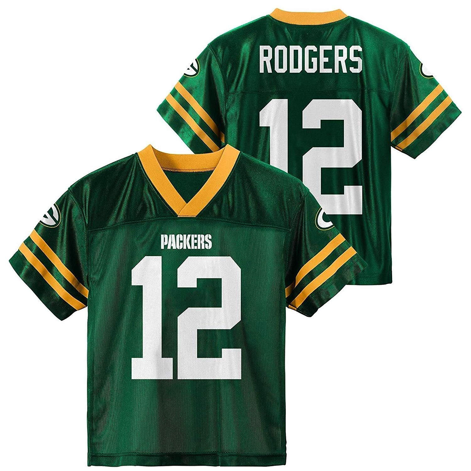 Outerstuff Aaron Rodgers Green Bay Packers #12 Youth Home Player Jersey