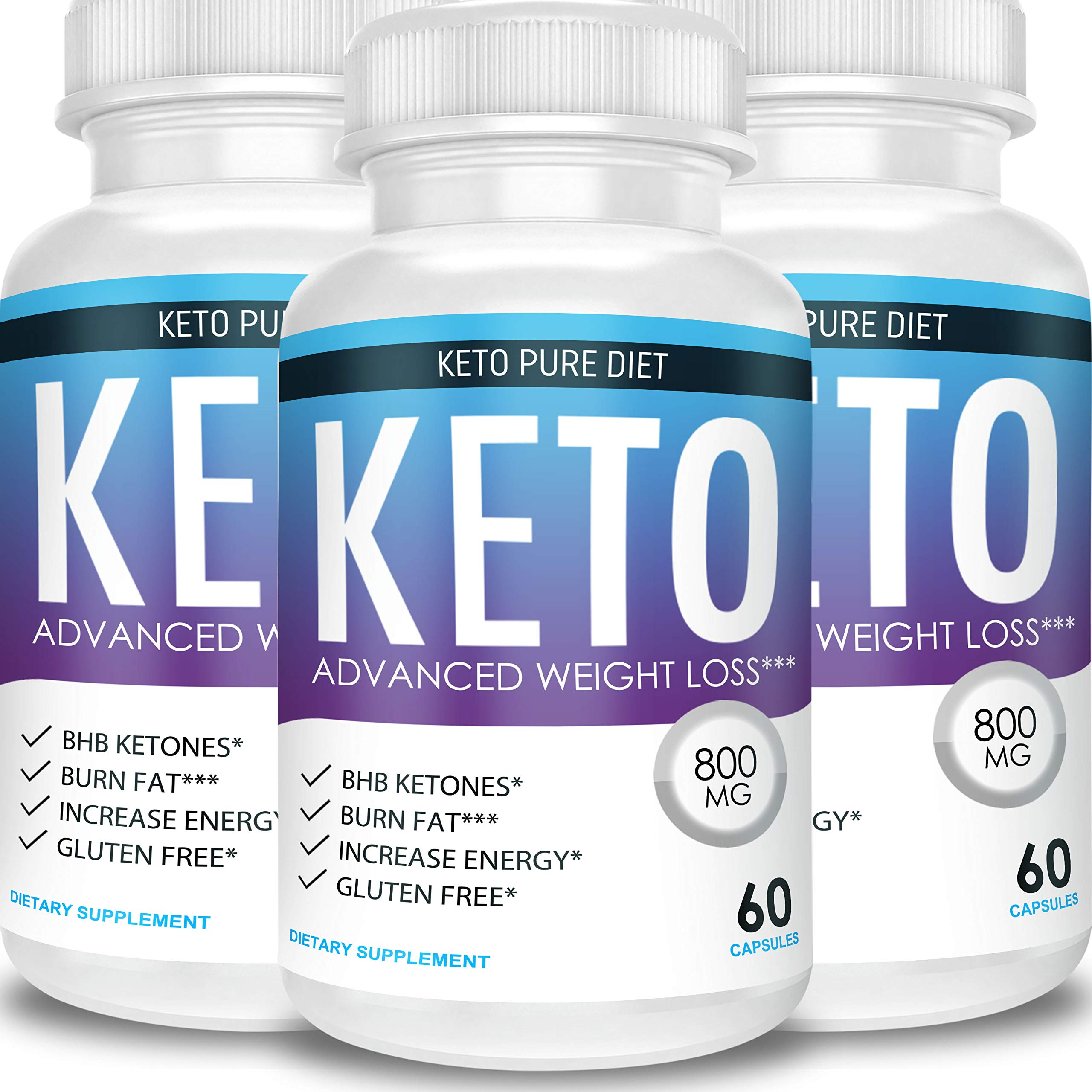 Keto Pure Diet - Advanced Weight Loss - Ketosis Supplement (3 Month Supply) by Keto Pure Diet