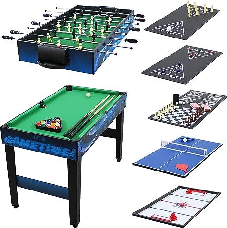 Sunnydaze Decor 10 combinación Multi Mesa de Juego con Billar, Push Hockey, Futbolín, Ping Pong, y más, 40 Pulgadas: Sunnydaze Decor: Amazon.es: Deportes y aire libre