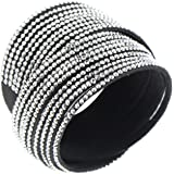 Rivertree Slake Style Crystal Encrusted Multi Strands Layered Wrap Bracelet